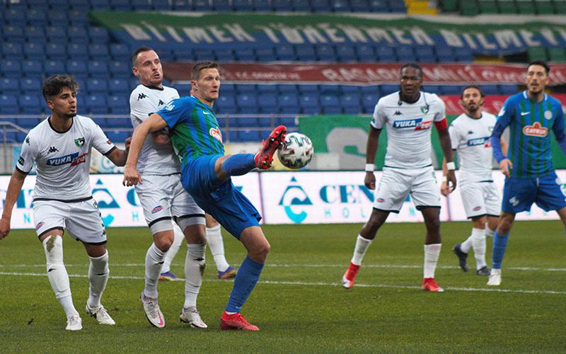 Denizlispor, Rizespor deplasmanında 1 puana razı oldu: 1-1