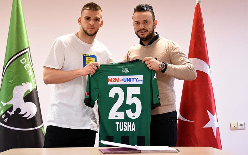 Denizlispor, Veton Tusha ile profesyonel sözleşme imzaladı