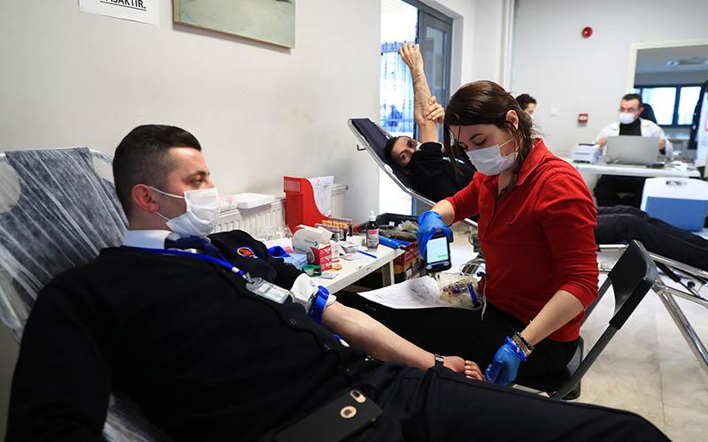 Denizli Büyükşehir Ulaşım AŞ personelinden kan bağışı