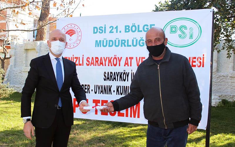 Sarayköy'de 1.100 hektar arazi toplulaştırıldı, tapular dağıtıldı