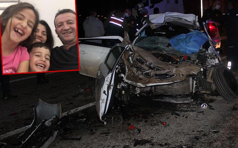 Manisa'daki feci kazada Denizlili aileden 3 kişi öldü