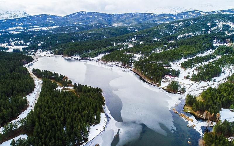 Doğa harikası Akdağ'daki kış güzelliği hayran bırakıyor
