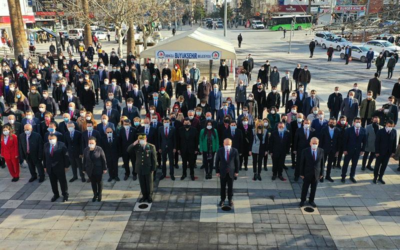 Atatürk'ün Denizli'ye gelişinin 90. yıldönümü kutlandı