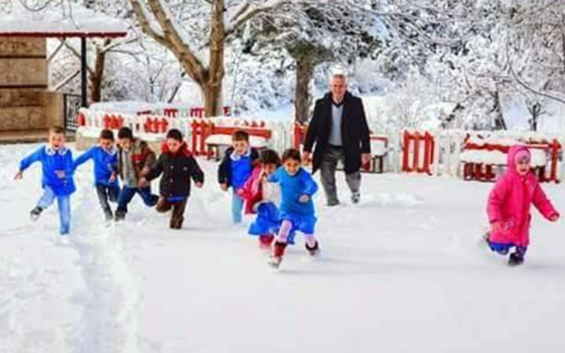 Çameli'nin 4 mahallesinde okullara kar tatili