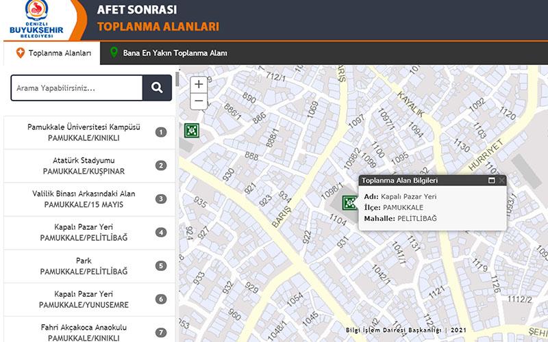Toplanma merkezlerini gösteren dijital harita erişime açıldı