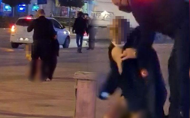 Delikliçınar'da bir kişi çırılçıplak soyundu