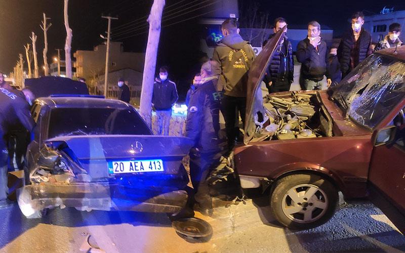 İki otomobilin çarpışması sonucu 3 kişi yaralandı