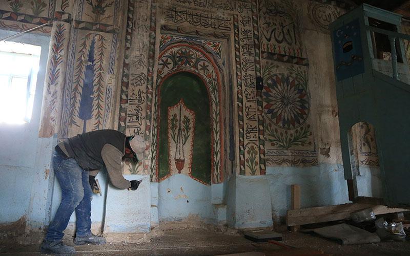Belenardıç Camisi'nde restorasyon devam ediyor