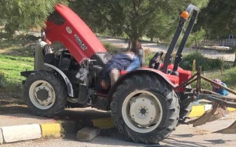 Beton kapı kirişi traktörün üzerine düştü, sürücü öldü