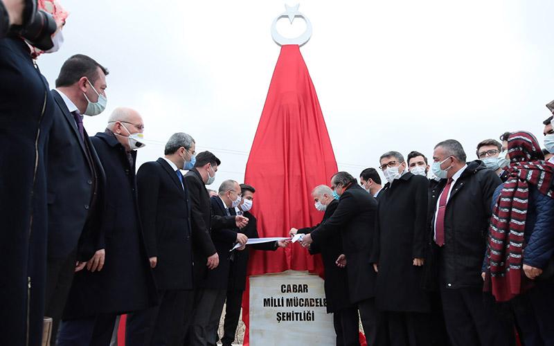 Cabar Milli Mücadele Şehitliği ve Anıtı açıldı