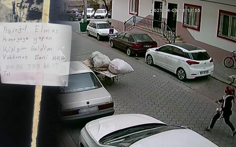 """Kağıt toplayıcısından araç sahibine """"kazayı yapan benim"""" notu"""