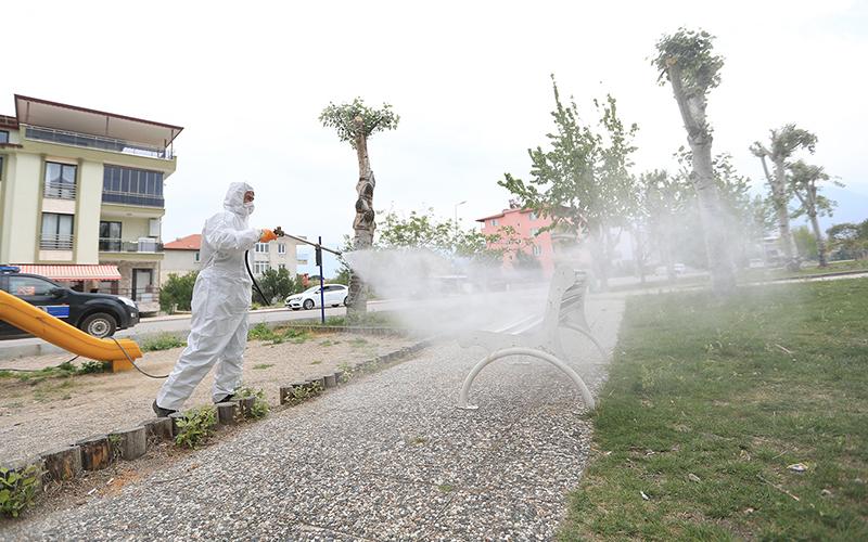 Pamukkale Belediyesinden dezenfekte çalışması
