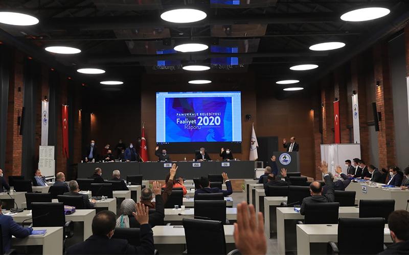 Pamukkale Belediyesi faaliyet raporu kabul edildi