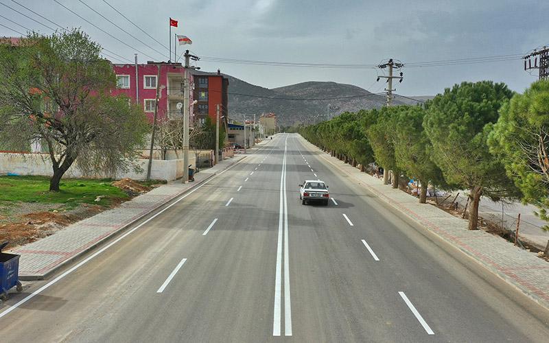 Serinhisar'a 14 bin ton sıcak asfalt