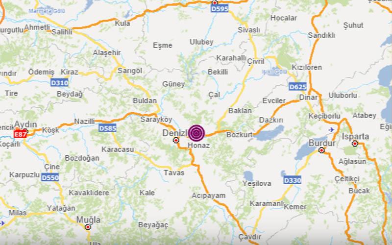 Denizli'de peş peşe depremler meydana geldi