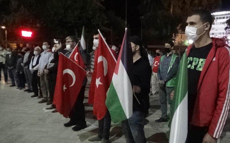 İsrail'in Mescid-i Aksa'ya yönelik saldırıları protesto edildi