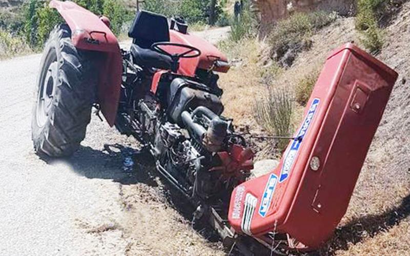 Traktör kazasında 1 kişi yaralandı