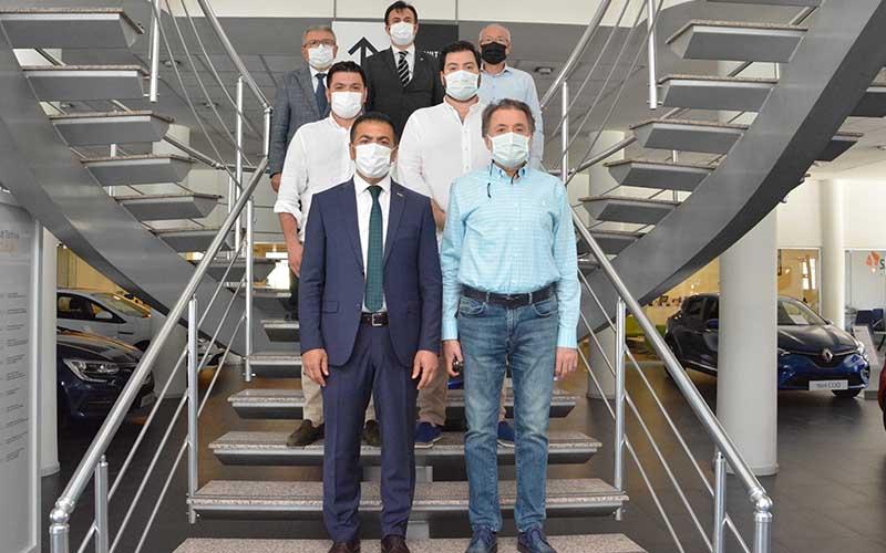 DTO Başkanı Erdoğan'dan ziyaretler