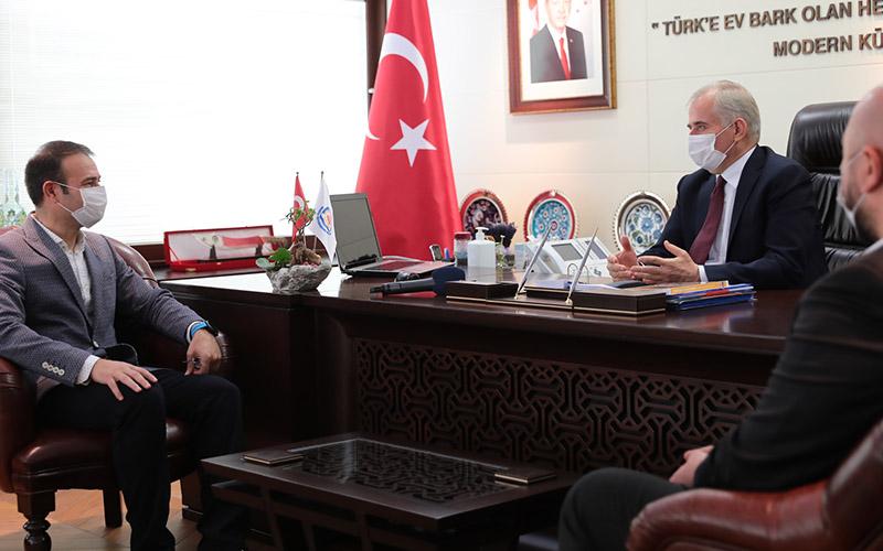 TTF Başkanı Yalçınkaya'dan Başkan Zolan'a ziyaret