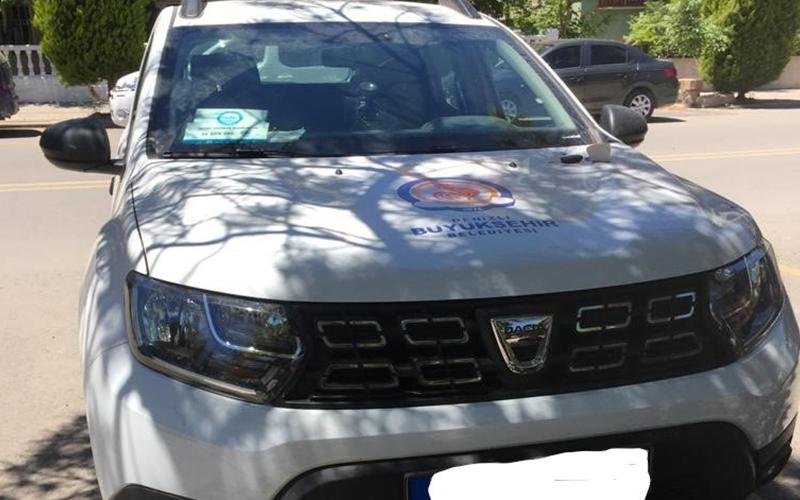 Hırsızlar, Büyükşehir Belediyesinin aracını bile çalmış