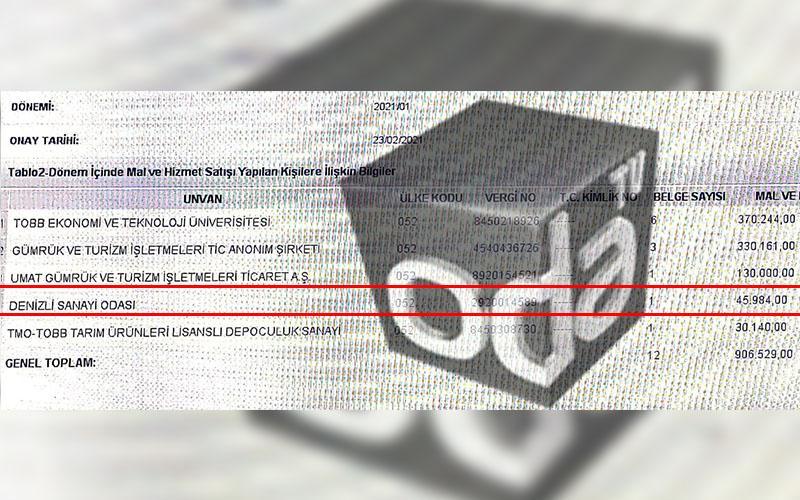 TOBB Başkanı Hisarcıklıoğlu'nun şirket ortağının sahibi olduğu firmadan DSO'ya 3 fatura