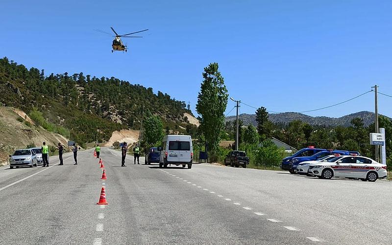 Sürücüler havadan takibe alındı