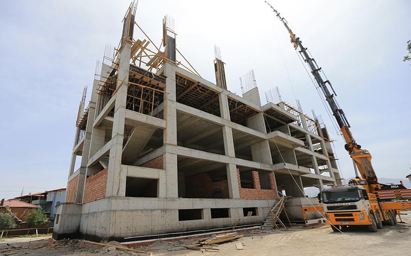 Muhammet Serter İmam  Hatip Okulu inşaatı devam ediyor
