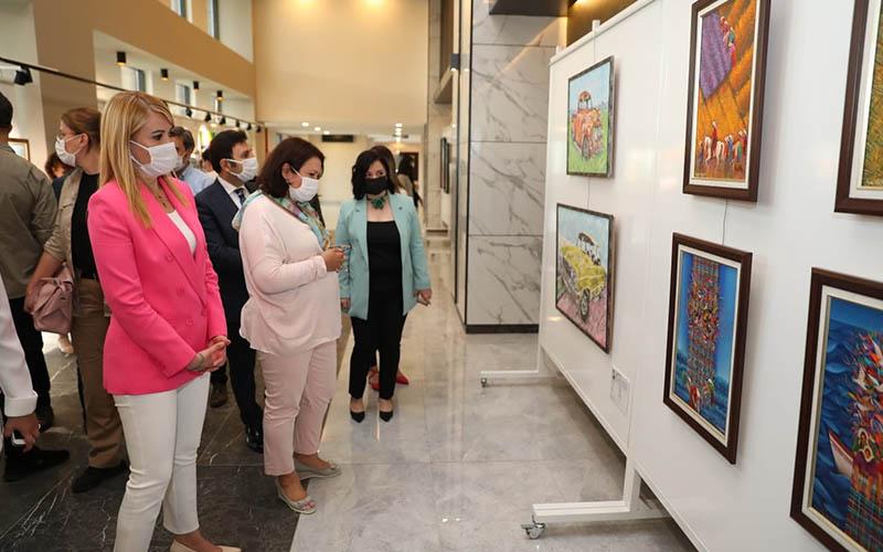 Denizlili sanatçıların eserleri sanatseverlerle buluştu