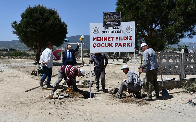 Buldan'da atıl durumdaki parklar yenileniyor