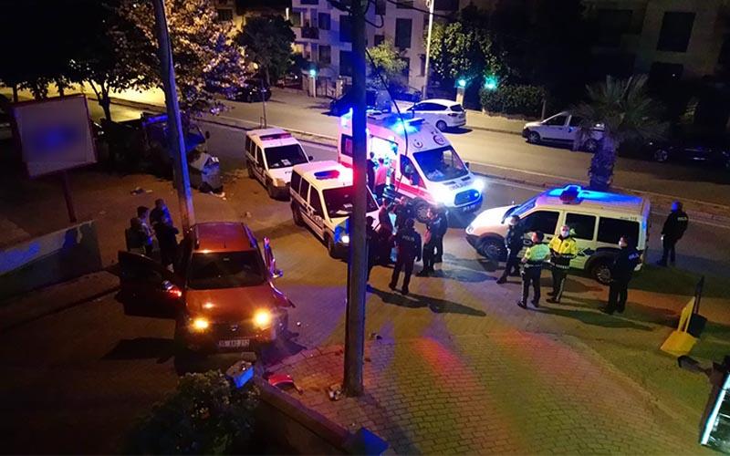 Polisten kaçan kadın sürücü kaza yapınca yakalandı