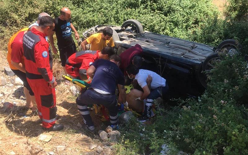 Denizli-Muğla karayolundaki kazada 5 kişi yaralandı