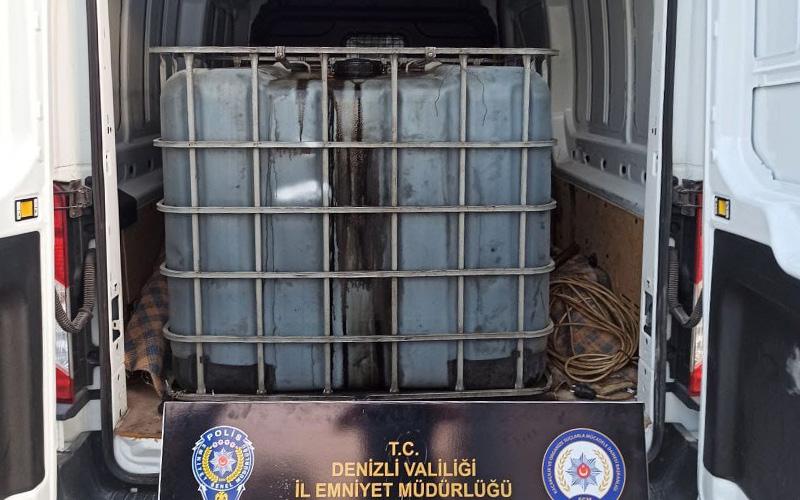 Karışımlı 3 bin litre kaçak akaryakıt ele geçirildi
