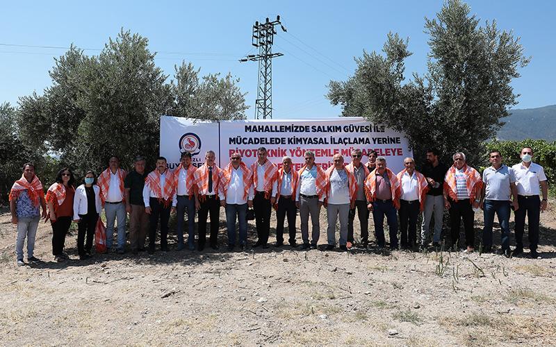 Büyükşehir Belediyesinden çiftçiye biyoteknikle mücadelede desteği