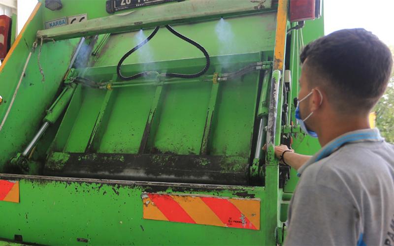 Pamukkale'de çöp kamyonlarına koku önleme sistemi
