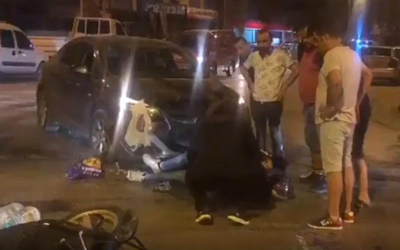 Motosikletlerin karıştığı kazalarda 3 kişi yaralandı