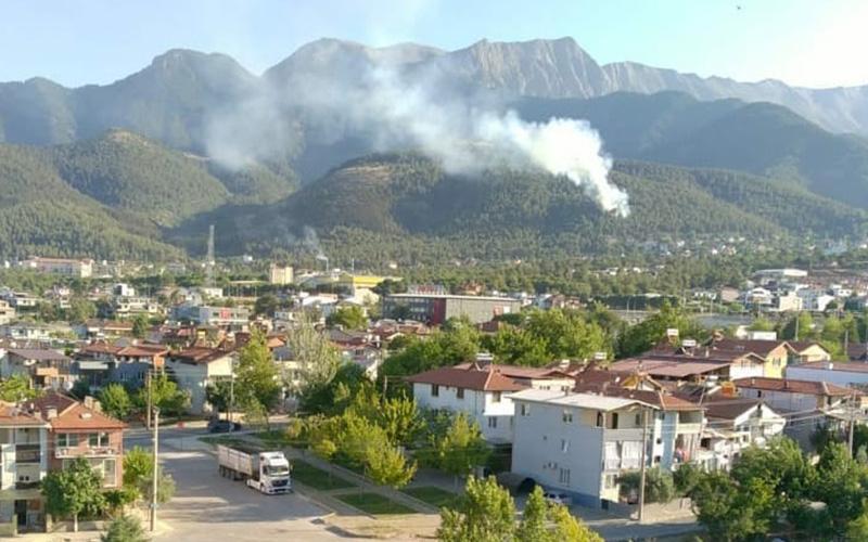 Yine orman yangını, yine yerleşim bölgesine yakın alan