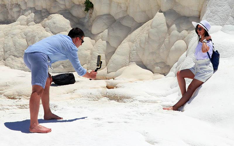 Pamukkale'de bu yıl 1 milyon turist hedefleniyor