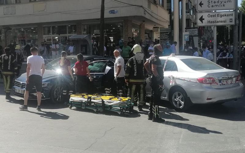 Saltak Caddesi'nde ucuz atlatılan kaza