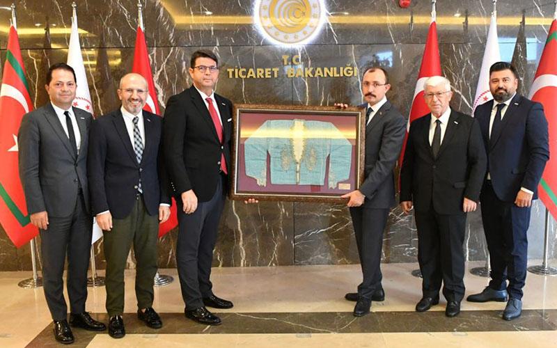 DENİB Yönetim Kurulu Ticaret Bakanı Muş'u ziyaret etti