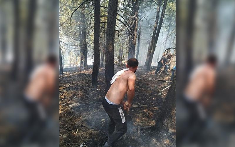 Honaz Milli Parkı'ndaki yangın söndürüldü