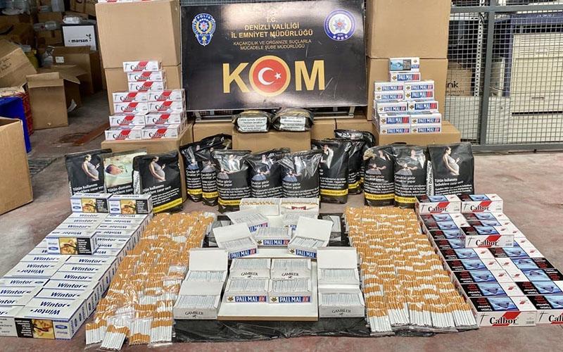 Tütün kaçakçılığı operasyonunda binlerce dolma sigara ele geçirildi