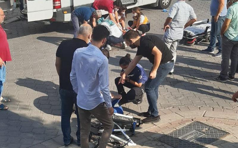 Kamyonetin çarptığı bisikletli çocuk ağır yaralandı