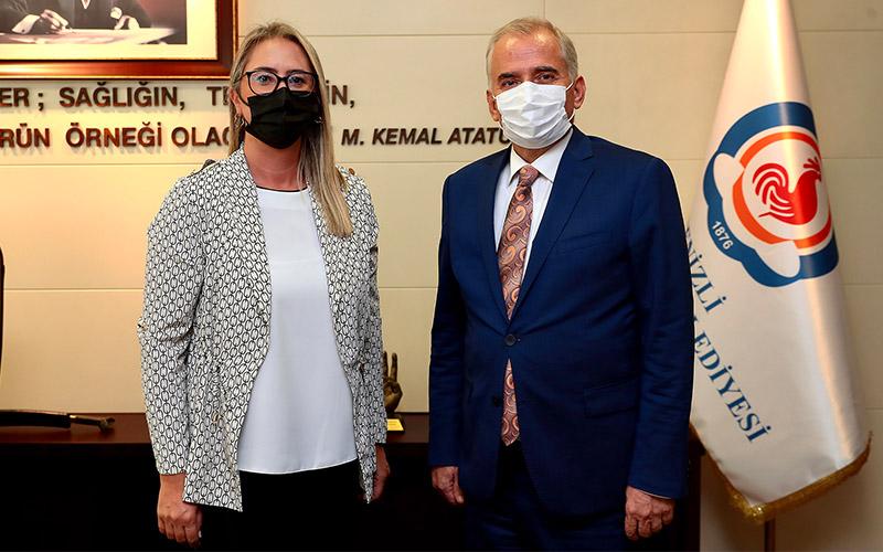 Çankırı, Büyükşehir ve Pamukkale belediyelerini ziyaret etti