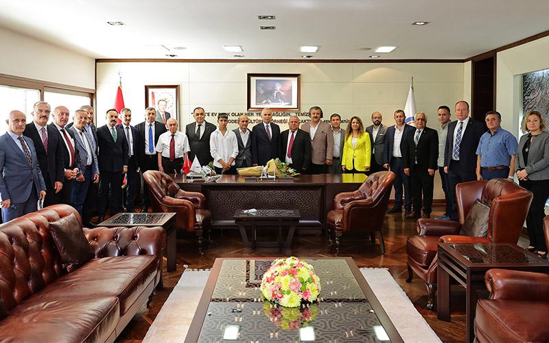 Esnaf heyetinden Başkan Zolan'a ziyaret