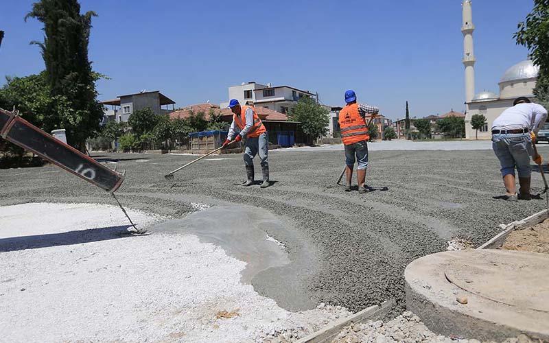 Pamukkale Belediyesi'nden 6 mahallede üstyapı çalışması