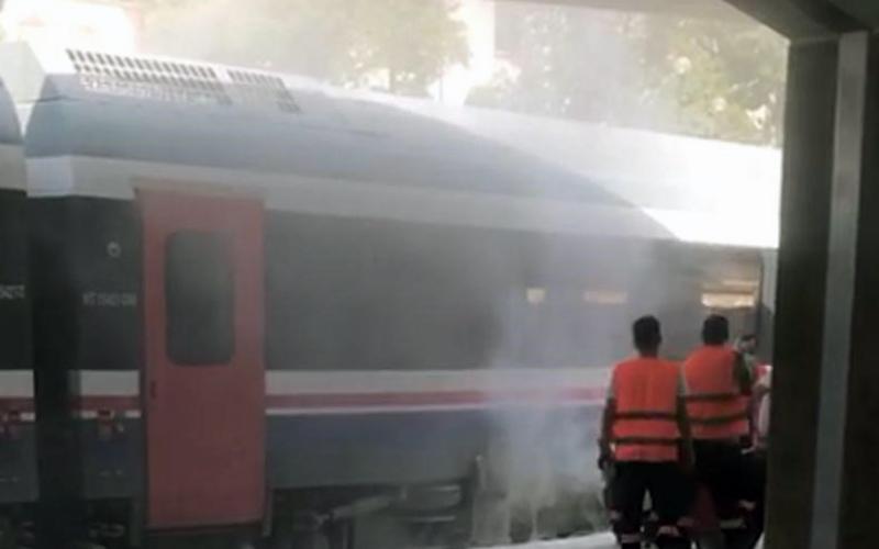 Denizli–İzmir seferini yapan trende yangın çıktı