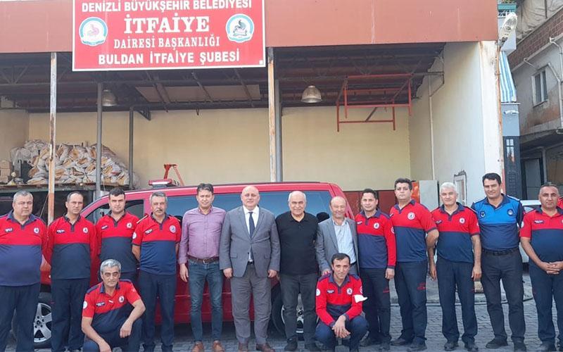 Şevik'ten Buldan İtfaiyesi'ne ziyaret