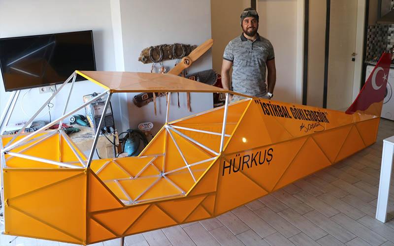 Denizlili mucit kendi uçağını yapacak